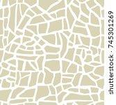 abstract mosaic terrazzo... | Shutterstock .eps vector #745301269