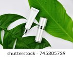 cosmetic bottle containers with ...   Shutterstock . vector #745305739