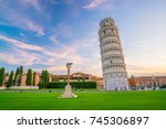 The Leaning Tower In A Sunny...