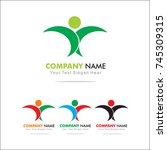 life logo  design template | Shutterstock .eps vector #745309315