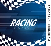 racing square background with... | Shutterstock .eps vector #745314631