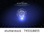 the curve forms a three... | Shutterstock .eps vector #745318855