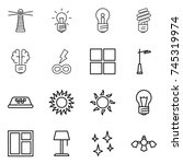 thin line icon set   lighthouse ... | Shutterstock .eps vector #745319974
