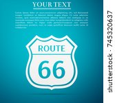 route sixty six road sign.... | Shutterstock .eps vector #745320637