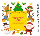 merry christmas and new year... | Shutterstock .eps vector #745324651