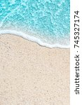 sea beach and soft wave of blue ... | Shutterstock . vector #745327174