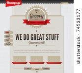 retro vintage styled website... | Shutterstock .eps vector #74533177