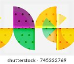 circle elements on black... | Shutterstock .eps vector #745332769