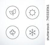 set of season icons | Shutterstock .eps vector #745333561