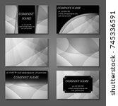 minimal vector covers set.... | Shutterstock .eps vector #745336591