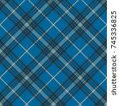 Fabric Texture Blue Check Plai...