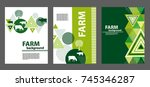 agricultural brochure layout... | Shutterstock .eps vector #745346287