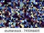 dark blue  yellow vector... | Shutterstock .eps vector #745346605