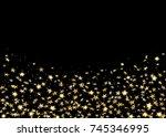 gold stars confetti celebration ...   Shutterstock .eps vector #745346995