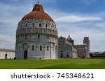 stunning daily view at the pisa ... | Shutterstock . vector #745348621