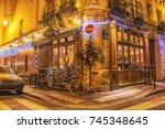paris  france   december 10... | Shutterstock . vector #745348645