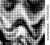 abstract grunge grid polka dot...   Shutterstock .eps vector #745351501