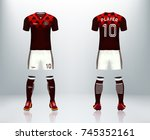 3d realistic of front and back... | Shutterstock .eps vector #745352161