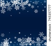 winter card border of snow... | Shutterstock .eps vector #745357777