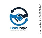handshake people deal logo... | Shutterstock .eps vector #745360465