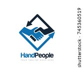 handshake people deal logo... | Shutterstock .eps vector #745360519