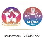 magic show and amusement park... | Shutterstock .eps vector #745368229