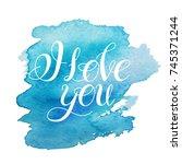 i love you.vector image. love... | Shutterstock .eps vector #745371244