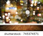 christmas and new year concept. ... | Shutterstock . vector #745374571