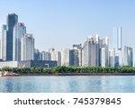 fantastic guangzhou skyline....   Shutterstock . vector #745379845