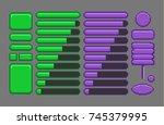 game assets  pixel art gui for...   Shutterstock .eps vector #745379995