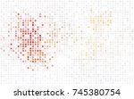dark purple vector red banner... | Shutterstock .eps vector #745380754