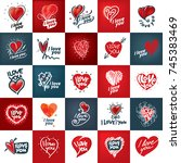 i love you | Shutterstock .eps vector #745383469