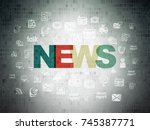 news concept  painted... | Shutterstock . vector #745387771