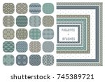 collection of 20 colorful... | Shutterstock .eps vector #745389721