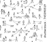 seamless pattern with tiny... | Shutterstock .eps vector #745390519