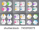 collection of infographic... | Shutterstock .eps vector #745393075
