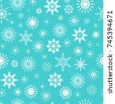 white snowflakes. winter design.... | Shutterstock .eps vector #745394671