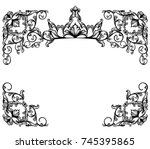 vintage style frame with royal... | Shutterstock .eps vector #745395865
