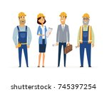 construction workers   colored...   Shutterstock . vector #745397254