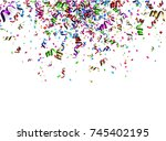 white new year background with... | Shutterstock .eps vector #745402195