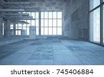 abstract white and concrete... | Shutterstock . vector #745406884
