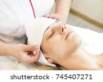 massage and facial peels at the ... | Shutterstock . vector #745407271