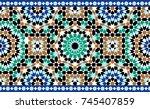 morocco seamless border.... | Shutterstock .eps vector #745407859