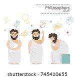 set of ancient greek...   Shutterstock .eps vector #745410655