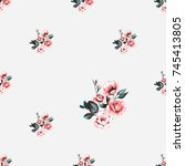 vintage traditional beautiful...   Shutterstock .eps vector #745413805
