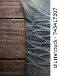denim jeans texture or denim... | Shutterstock . vector #745417207