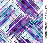 seamless pattern glitch design. ... | Shutterstock . vector #745418191