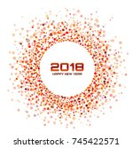 new year 2018 card background.... | Shutterstock .eps vector #745422571