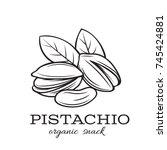 vector hand drawn pistachio... | Shutterstock .eps vector #745424881