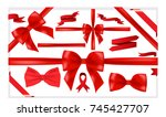 beautiful big set of red... | Shutterstock .eps vector #745427707
